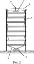 Разборная культивационная колонна для автономного симбиотического растениеводства