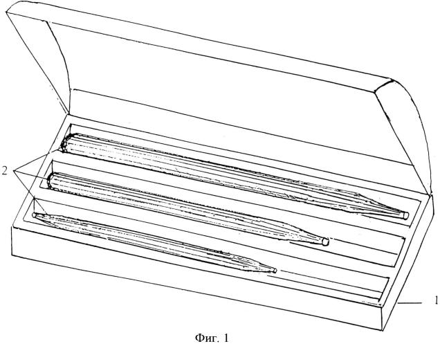 Набор наностатических палочек для массажа лица, тела и кистей рук