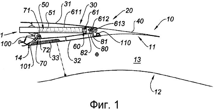 Устройство для приведения в действие реверсора тяги с регулируемым соплом для гондолы турбореактивного двигателя и гондола, содержащая такое устройство