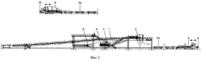 Конвейерное устройство для послойной добычи материала в разработках открытого типа и способ согласования конвейерного устройства с приёмами прогрессивной разработки