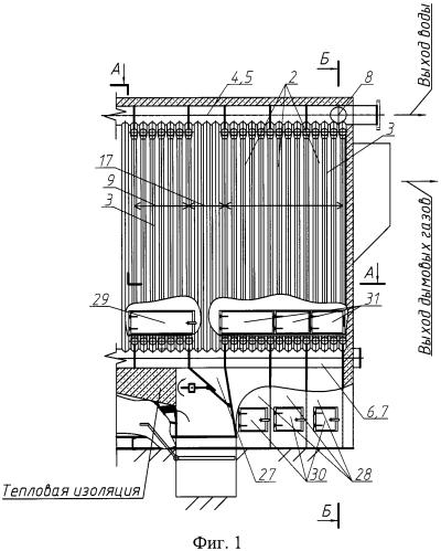 Конвективный блок водогрейного котла