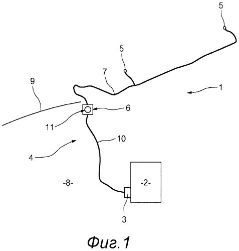 Система распределения стеклоомывающей жидкости для автомобильного транспортного средства