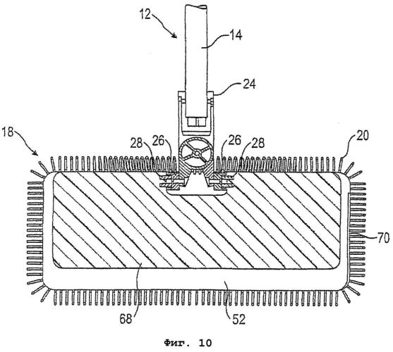 Ручное устройство для уборки с чехлом для швабры