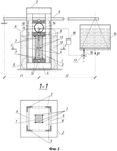 Способ экспериментального определения градиента изменения длительной прочности нагруженного и корродирующего бетона и устройство для его осуществления