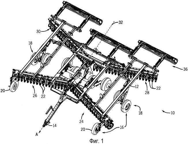 Система для заточки лезвий, устанавливаемая на сельскохозяйственном орудии