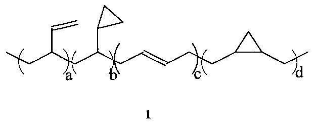 Способ получения полимерных продуктов, содержащих в составе макромолекул незамещенные циклопропановые группы