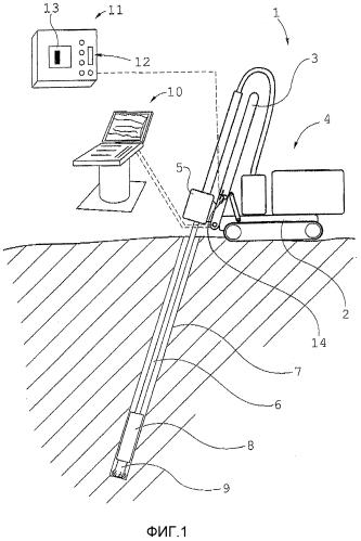 Способ и устройство для мониторинга погружного ударного бурения