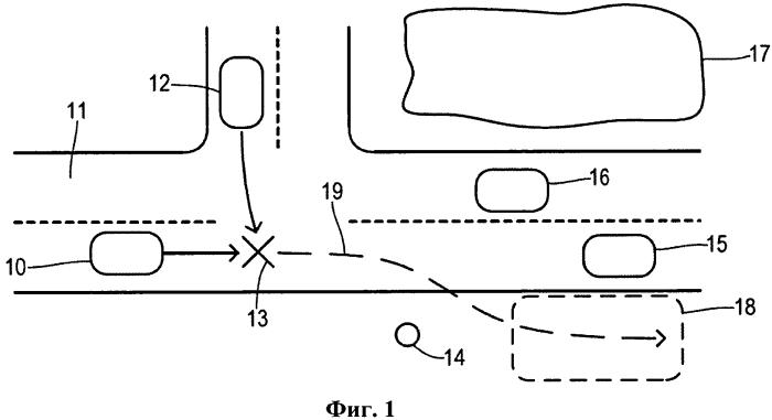 Система послеаварийного определения траектории движения транспортного средства