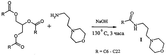Способ получения морфолилпропиламидов жирных кислот растительных масел