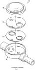 Моноблочный дозатор с шарнирным соединением