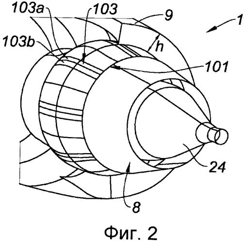 Внутренняя конструкция гондолы воздушного судна