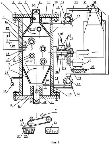 Установка для нанесения металлического покрытия на полые микросферы