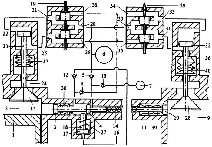 Способ зарядки пневмоаккумулятора системы пневматического привода газораспределительного клапана двигателя внутреннего сгорания газом из компенсационного пневмоаккумулятора энергией рабочего тела из двух цилиндров двигателя внутреннего сгорания