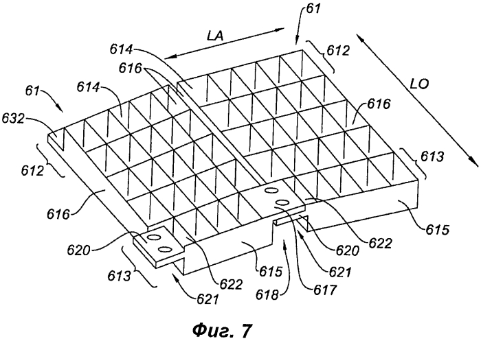 Самоподдерживающаяся отклоняющая решетка для реверсора тяги, блок решеток, содержащий такую решетку, и гондола, оснащенная таким блоком