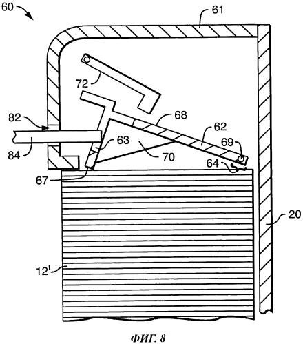 Устройство для выдачи согнутых листовых изделий, снабженное устройством для предотвращения переполнения