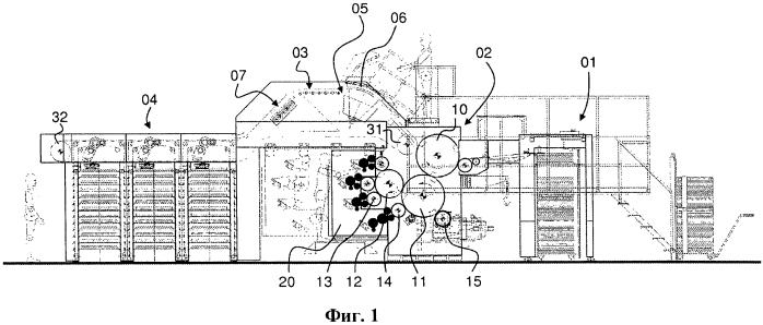 Система контроля для поточного контроля печатного материала, производимого на машине глубокой печати