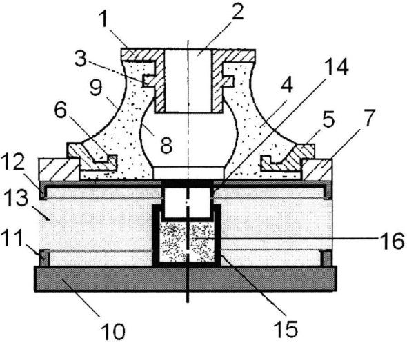 Комбинированный виброизолятор с сетчатым демпфером