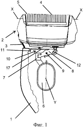 Электрический бритвенный прибор с вращающейся бритвенной головкой