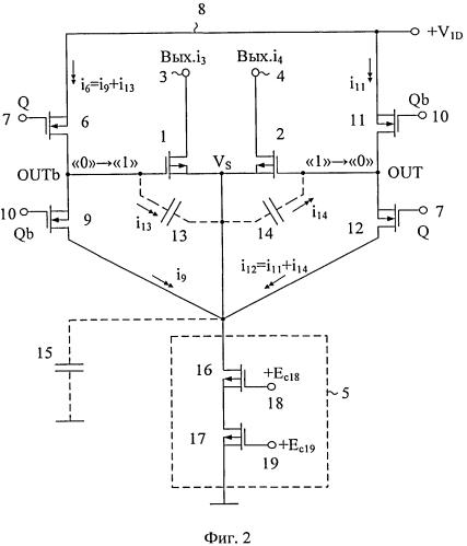 Быстродействующий драйвер коммутатора разрядного тока цифро-аналогового преобразователя на полевых транзисторах