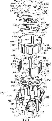 Электрическая розетка, содержащая вертикальные стойки, выполненные с возможностью поступательного перемещения