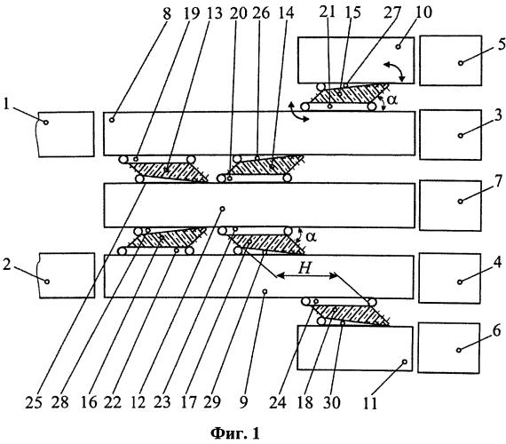 Устройство транспортирования штучных грузов от сборных транспортёров к устройствам укладки грузов в тару
