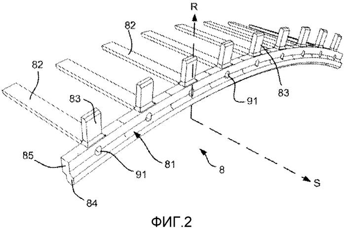 Устройство для блокировки ножки роторной лопатки