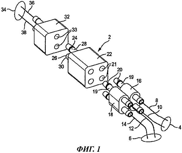 Соединительное устройство для соединения по меньшей мере двух проводящих участков системы для лечения ран отрицательным давлением