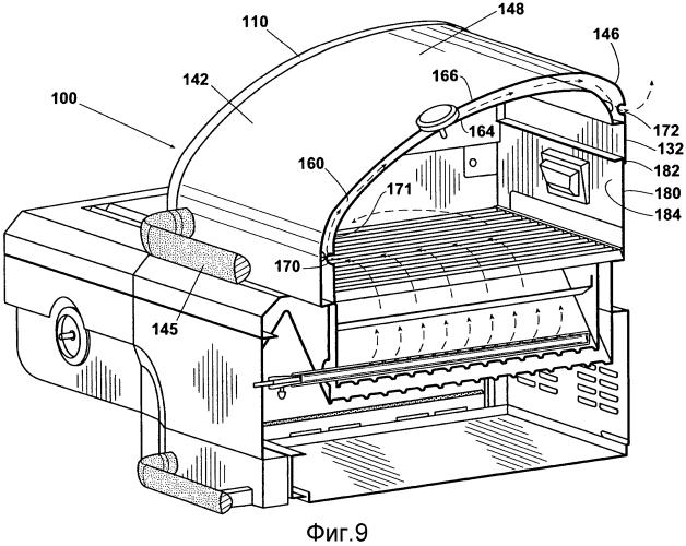 Варочное устройство для приготовления пищи на открытом воздухе и крышка для него