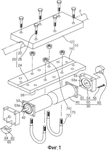 Устройство для удаления льда и снега с линии электропередач