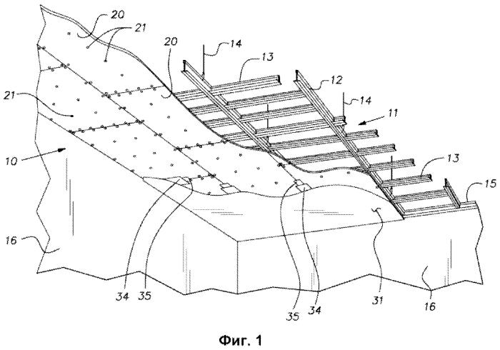 Гипсовая панель для акустического монолитного потолка