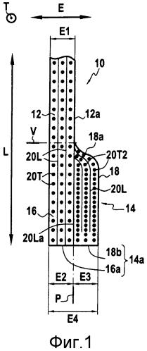 Волокнистая структура, образующая фланец и контрфланец