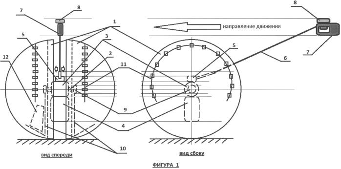 Электрическая тележка с колесами-контейнерами