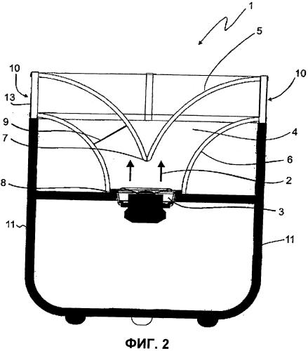 Громкоговорящее устройство с круговым воронкообразным звуковым выходным отверстием
