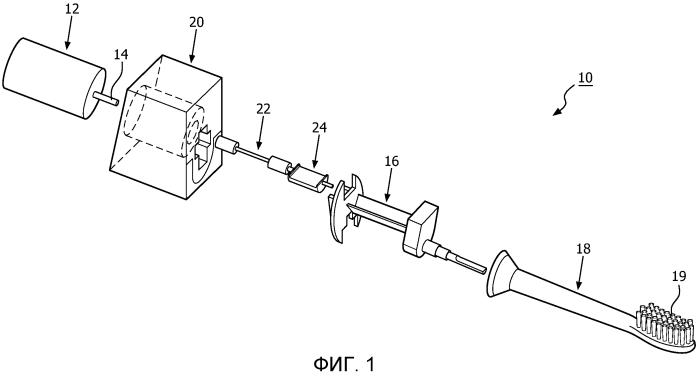 Гибкий приводной вал для устройства личной гигиены с эксцентриковым приводом