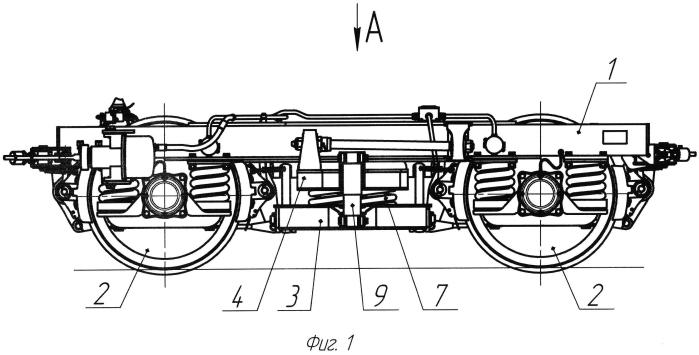 Тележка железнодорожного транспортного средства