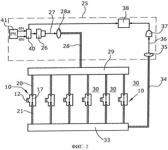 Испытательное устройство для проведения течеискания в нескольких точках контроля