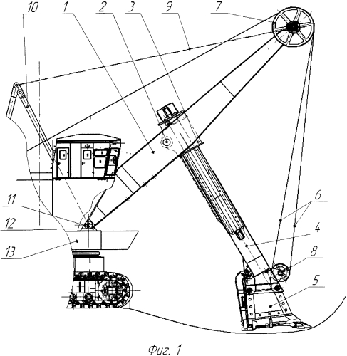 Рабочее оборудование карьерного экскаватора