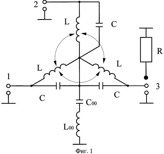 Широкополосное ферритовое развязывающее устройство на сосредоточенных элементах