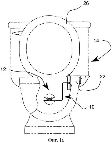 Устройство для обучения пользованию унитазом с убираемой мишенью