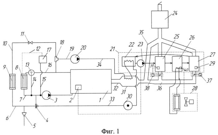 Система поддержания оптимального теплового режима двигателя внутреннего сгорания