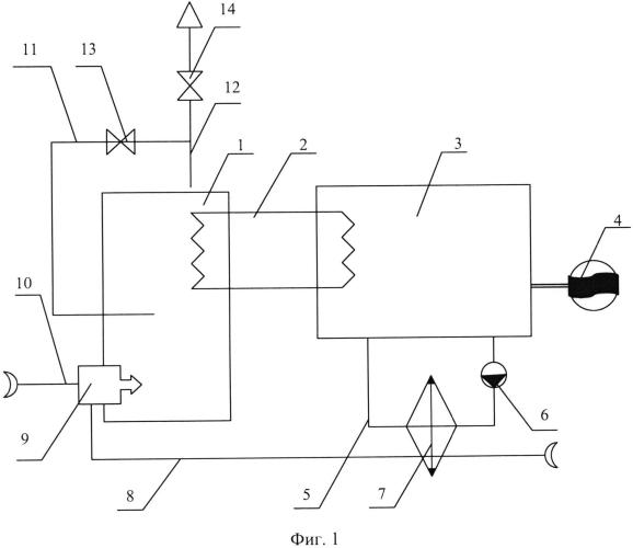 Энергетическая система на основе органического цикла ренкина для сжигания попутного нефтяного газа