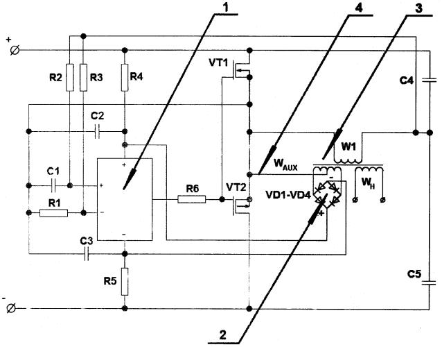 Полумостовой автогенераторный инвертор