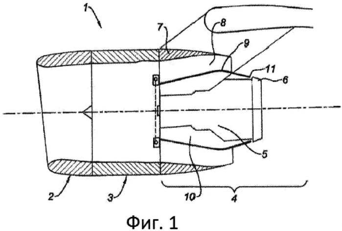 Гондола турбореактивного двигателя с регулируемым поперечным сечением вентиляционного выпускного отверстия