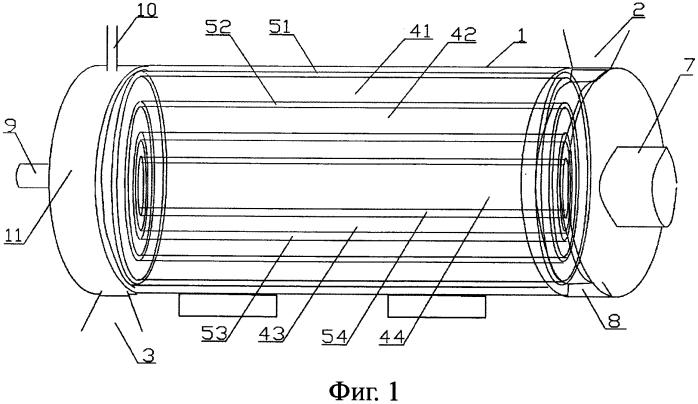 Устройство рукавного типа для разложения угольного материала