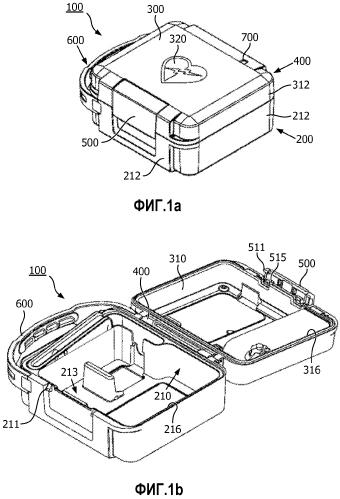 Футляр для дефибриллятора и вспомогательные средства, содержащие кронштейн для измерителя кпр