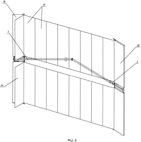 Солнечная батарея на гибкой подложке и способ ее раскрытия