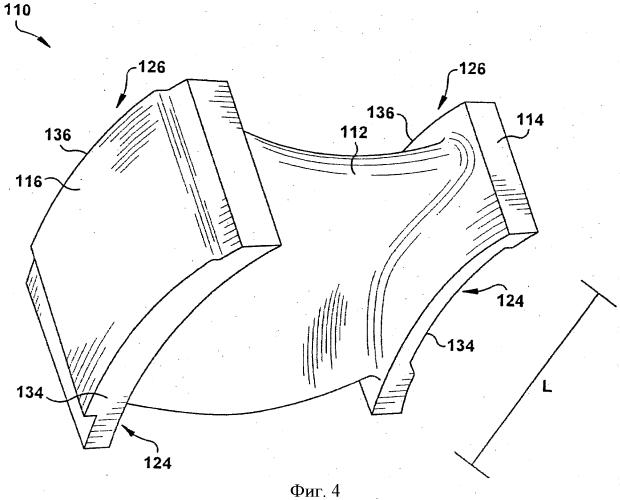 Неподвижная сопловая лопатка паровой турбины и диафрагма паровой турбины