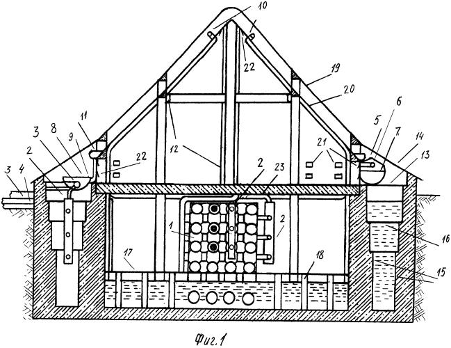 Гелиоэнергетическое сооружение с функцией водообмена
