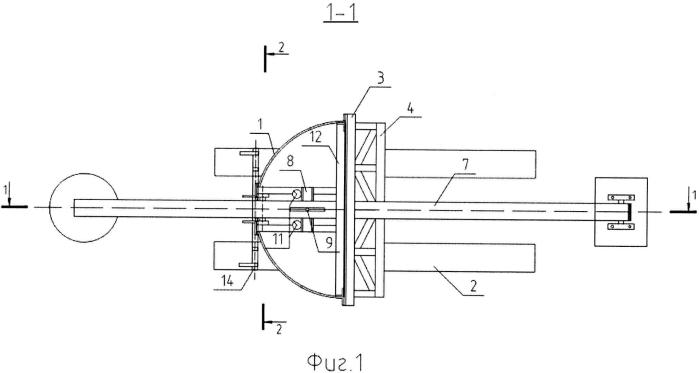 Установка для испытания грунтовых оснований осесимметричными моделями фундаментов