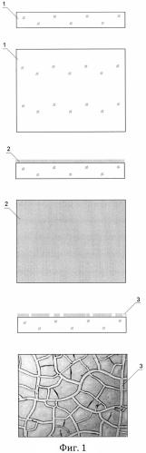 Сетчатая микро- и наноструктура, в частности для оптически прозрачных проводящих покрытий, и способ её получения
